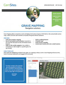 Example of the Grave Mapping PDF