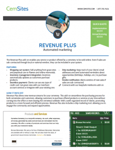 Example of the Revenue Plus informational PDF.